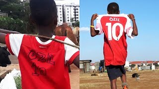 'Ozil sent me an Arsenal kit after seeing my homemade shirt' - BBC Africa