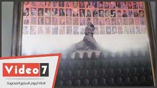"""بالفيديو.. منتقبة تعترض على لوحة لعلم مصر داخل اتحاد الكتاب اعتبرتها """"تشويها المنتقبات"""""""