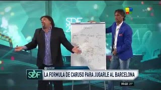 en 2016 ¿como ganarle al barcelona? 4 5 1 explica dt tecnico argentino vende humo caruso lombardi