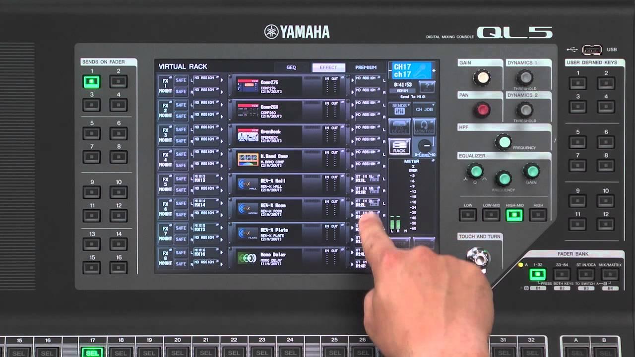 Cl ql series training video 3 6 adding the default for Yamaha ql 3
