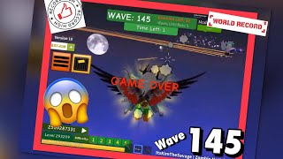 CURRENT WORLD RECORD - WAVE 145 - Zombie Attack - Roblox