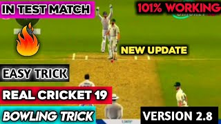 Real Cricket 19 New Update Bowling Trick | How To Take Wickets V.2.8 | Take 10 Ball 10 Wickets Tips
