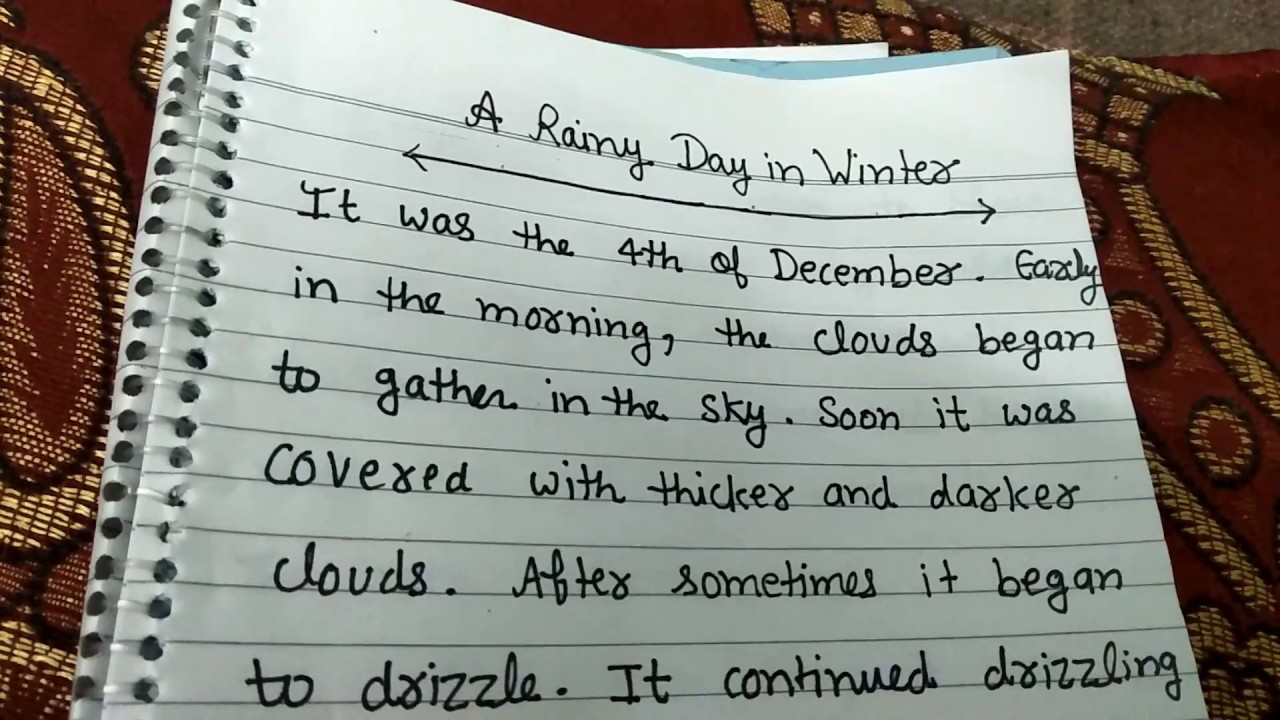 descriptive essay about rainy day