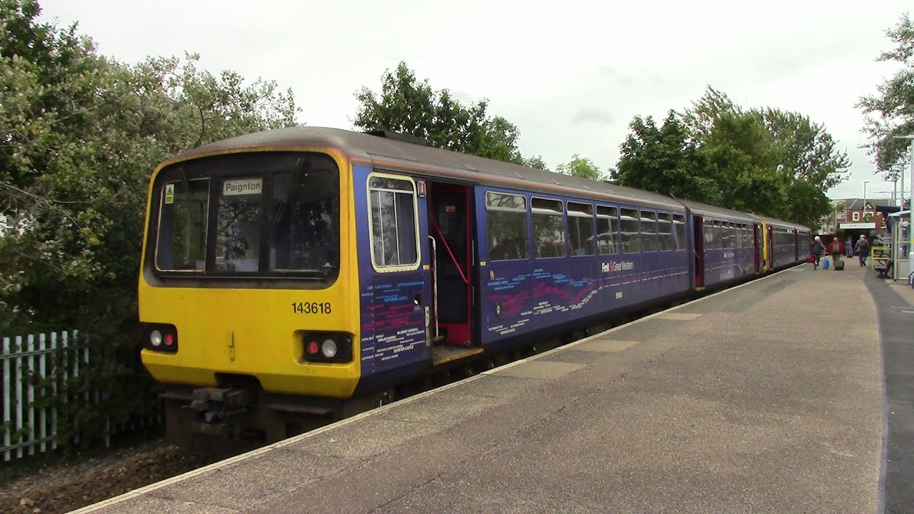 Exmouth Branch Railway Exeter St Davids To Exmouth Pacer 143 618