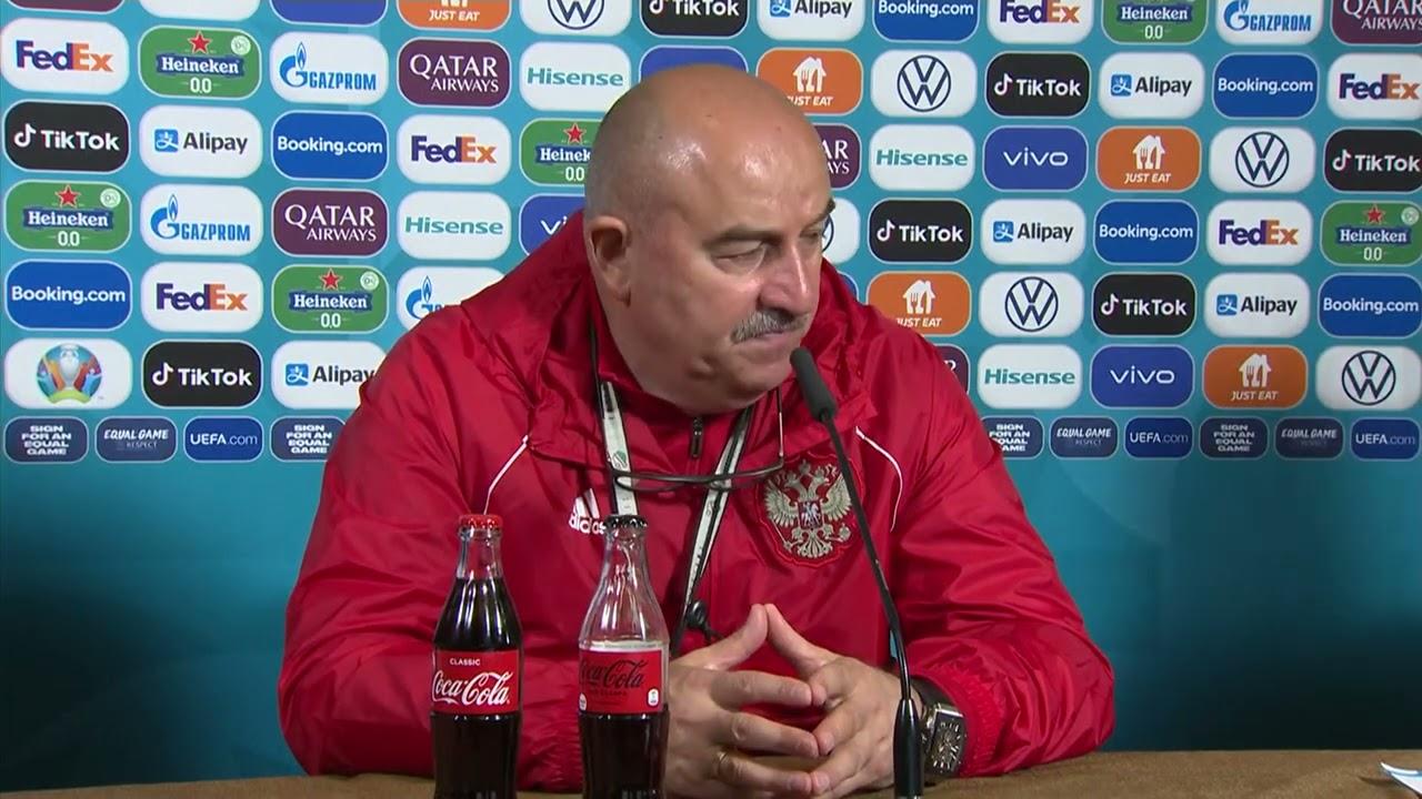 Пресс-конференция Станислава Черчесова перед матчем против Финляндии