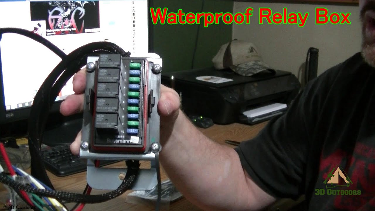 maxresdefault waterproof relay box youtube Automotive Fuse and Relay Box at bakdesigns.co