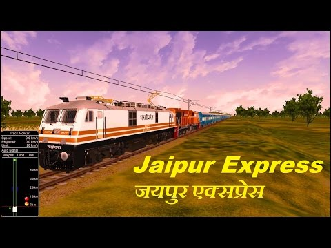 Jaipur Express Shunting & Departure from Bhopal Part 1 Indian train Simulator  MSTS Open Rails