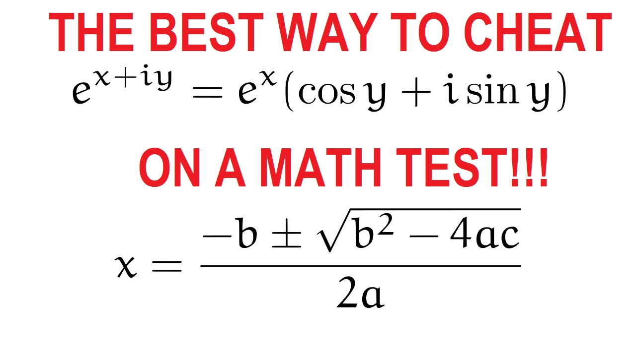 Best way to cheat on a math test - YouTube
