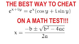 Best way to cheat on a math test
