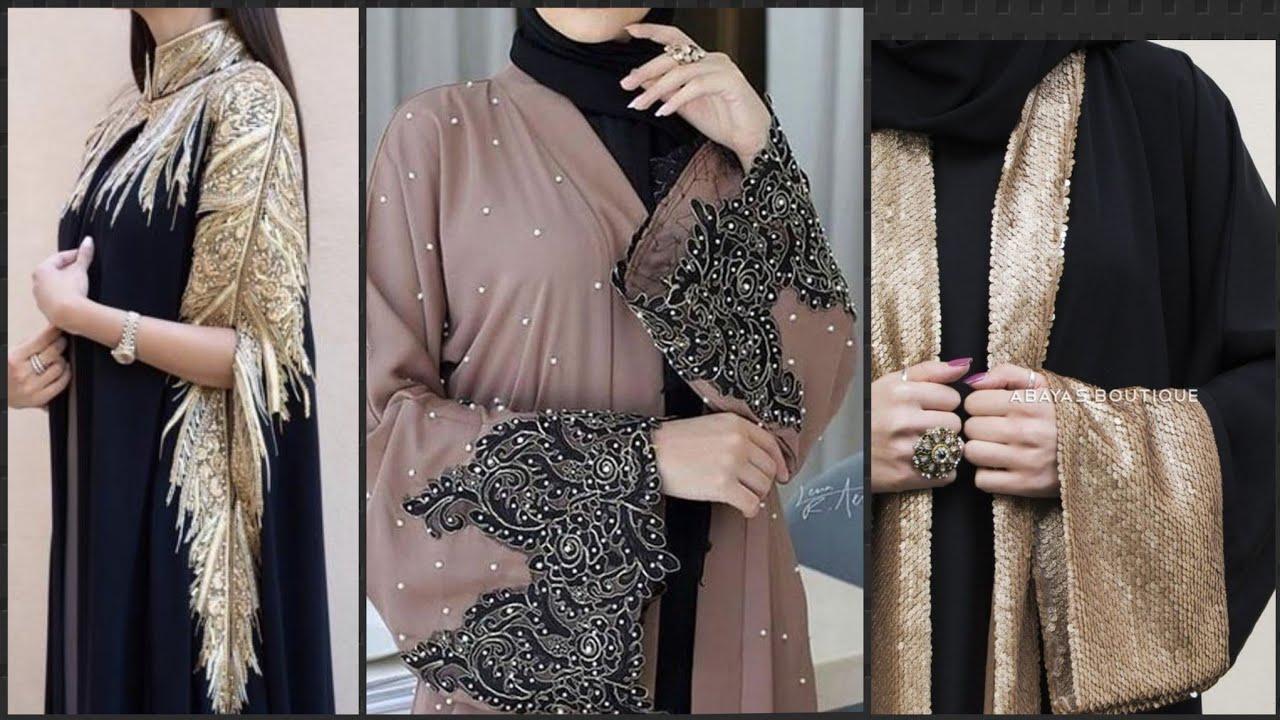 New most trending dubai Abaya style||Lace Abaya Designs||Open Abaya style