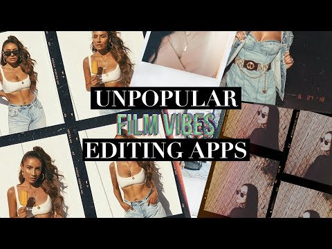 THE BEST Vintage Editing Apps! SECRET AF!︱Film Aesthetic, Polaroid, Glitch, Retro Pics + Video!
