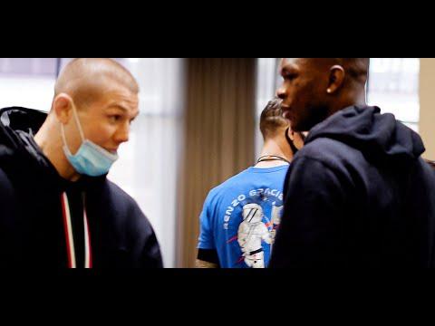 Israel Adesanya and Marvin Vettori Hotel Lobby Altercation   UFC 263