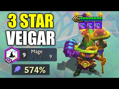 TRIPLE LUDEN VEIGAR ⭐⭐⭐ 9 Mage vs 9 Elderwood 3 Star Veigar (Teamfight Tactics TFT Fates Set 4)