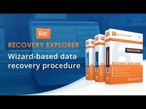 Recovery Explorer: wizard-based data recovery procedure [SysDev Laboratories]