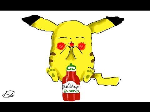 Dessiner un pikachu trop mignon pot de ketchup tuto dessin - Dessin pikachu mignon ...