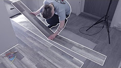 Laying Wooden Floor Tiles in a Hallway