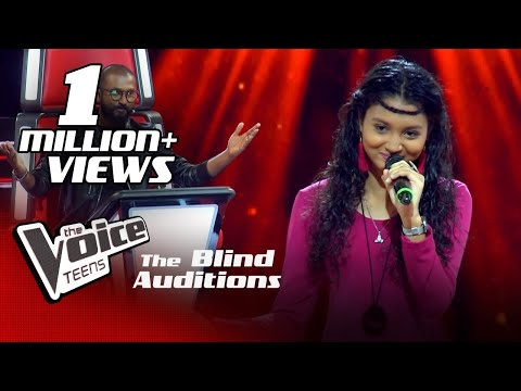 Himasha Umayandi   Sanda Pahan Raye (සඳ පහන් රැයේ)   Blind Auditions  The Voice Teens Sri Lanka
