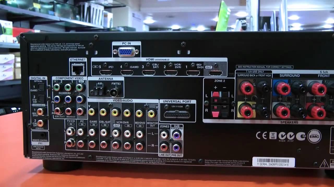 Ampli Home Cinema ONKYO TX-NR609 - YouTube