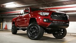 install and review of a 4 inch rough country lift on my 2016 tacoma
