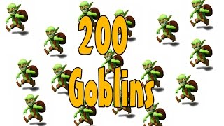 200 lvl5 Goblins Attack - Clash Of Clans