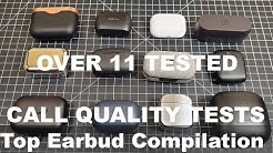 TOP EARBUDS CALL QUALITY TESTS BACK TO BACK!  Jabra Elite 75t Amazon Echo Buds Klipsch T5 & More