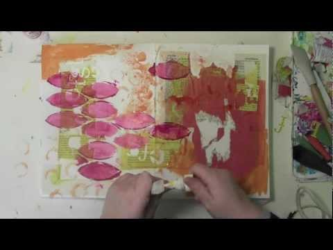 Art Journaling with Stencils and Finding Lost Teeth with Carolyn Dube