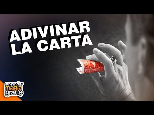 MAGIA CON CARTAS   La MEJOR TÉCNICA para ADIVINAR UNA CARTA