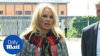 Pamela Anderson Talks 'innocent' Julian Assange Outside Belmarsh