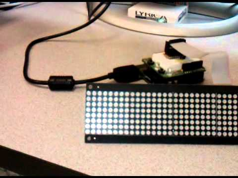 Using The Sure Electronics 8x32 Display With An Arduino