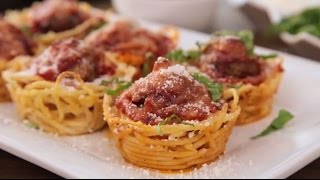 Appetizer Recipes - How to Make Spaghetti and Meatballs Muffin Bites
