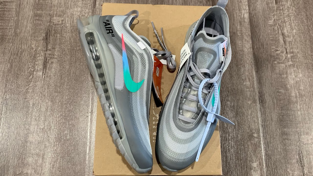 Nike Off White Menta Wolf Grey Air Max 97 Unboxing & Review