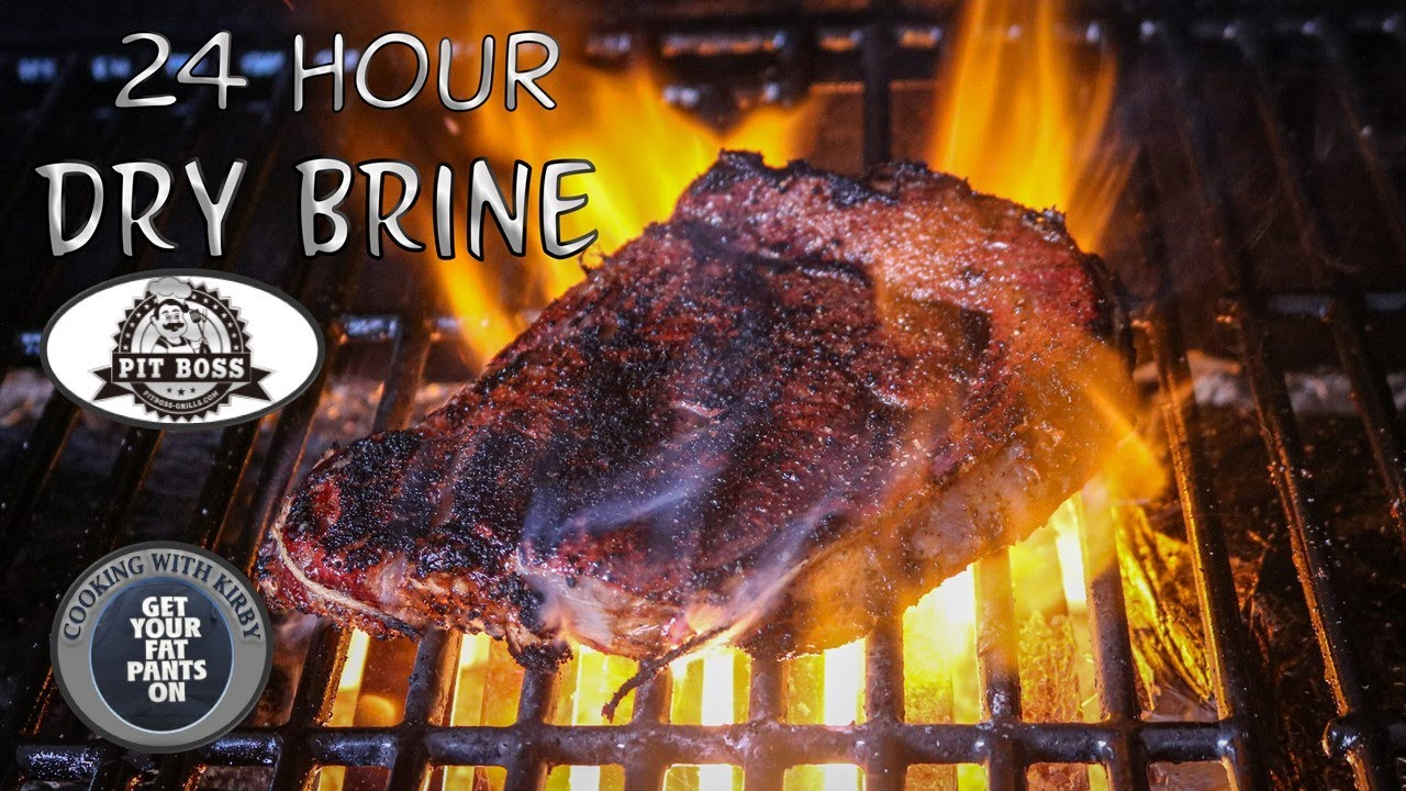 (313) 24 Hour Dry Brine Steaks Rib Eye Steaks - Pit Boss Austin XL - YouTube