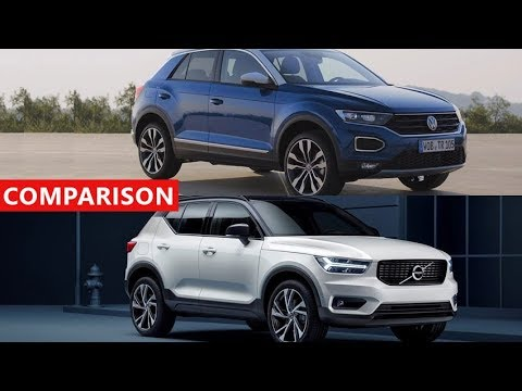 2018 volvo xc40 vs 2018 volkswagen t roc suv comparison amazing luxury suv crossover youtube. Black Bedroom Furniture Sets. Home Design Ideas