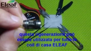 Come rigenerare le coil ELEAF melo lemo ijust s rebuild ita