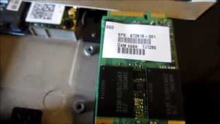 Dead SSD in HP Folio 13 laptop - dead mSata SSD chip card inside under the keyboard