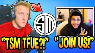 """Tfue Answers If He's Joining """"TSM"""" & *LEAVING* FaZe Clan! (Fortnite Moments)"""