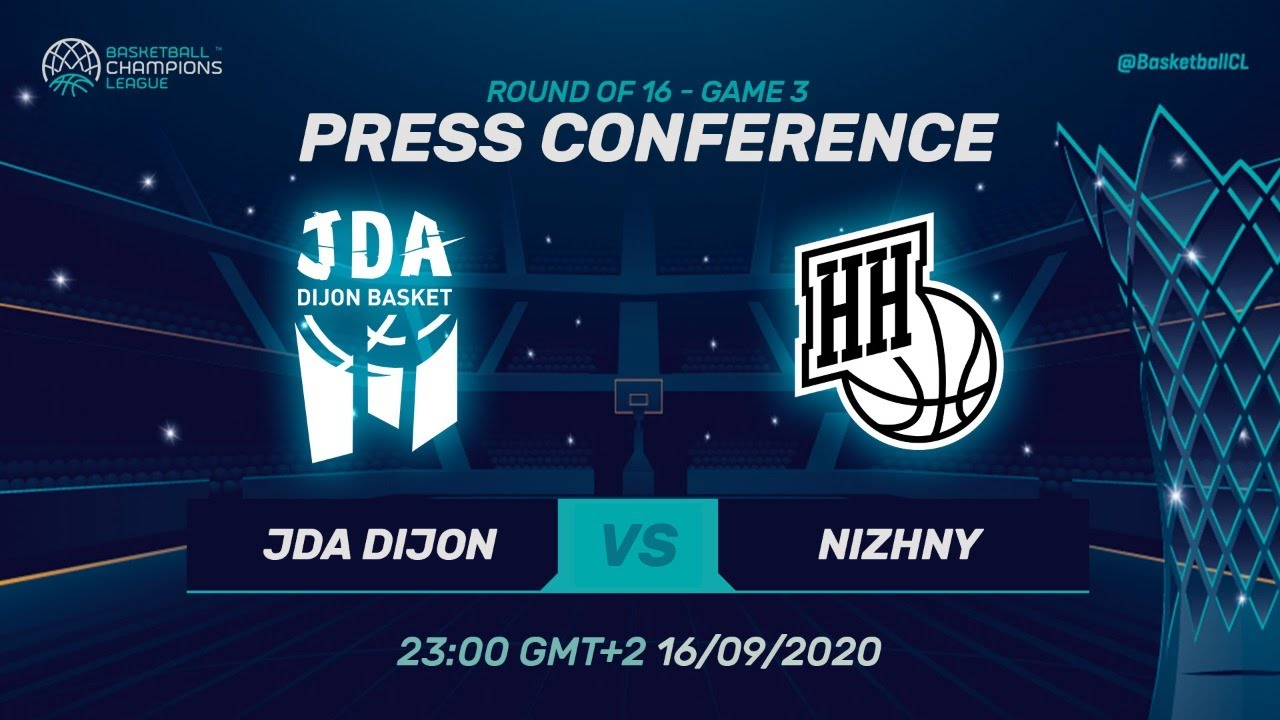 JDA Dijon v Nizhny Novgorod - Press Conference - Round of 16 - Basketball Champions League 2019
