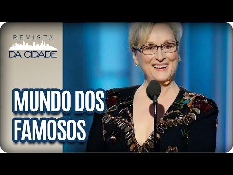 Meryl Streep, Donald Trump e Leonardo Vieira - Revista da Cidade (10/01/17)