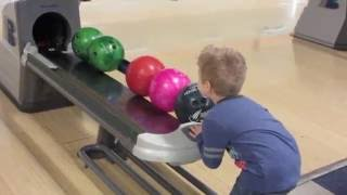 Bowling with Auntie Lisa and Vince
