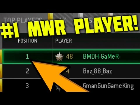 1v1 AGAINST THE BEST MWR GUN GAME PLAYER IN THE WORLD! (#1 IW PLAYER vs #1 MWR PLAYER)