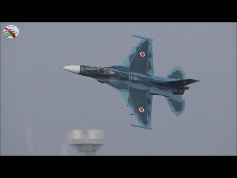 Tsuiki Airshow in Japan on the 25/11/2018. F-2s AIRSHOW WORLD