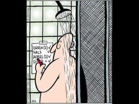 ich gehe duschen