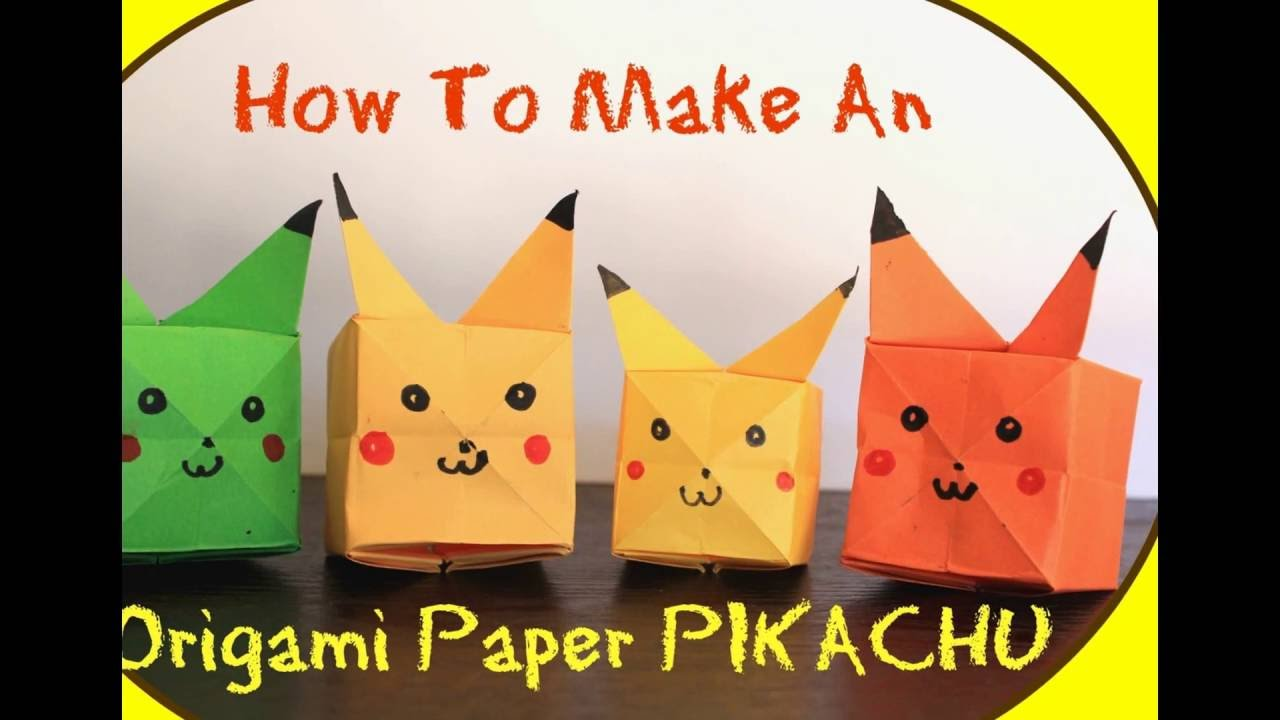 HowToMake An Easy ORIGAMI Pikachu POKEMON
