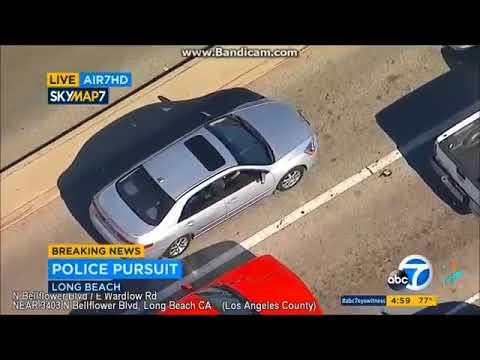Persecucion coche robado en Long Beach, California. 09/17