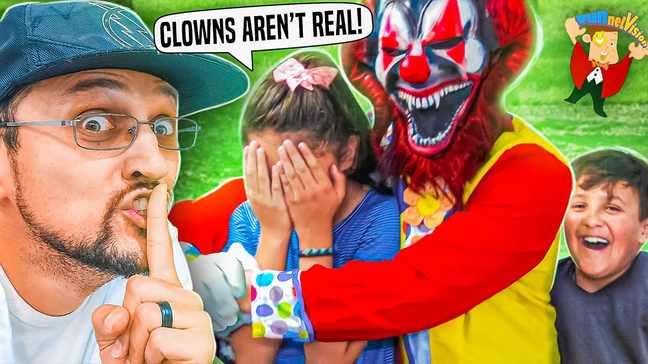 HALLOWEEN Killer Clowns in the Backyard Prank! (FV Family Scary Movie)