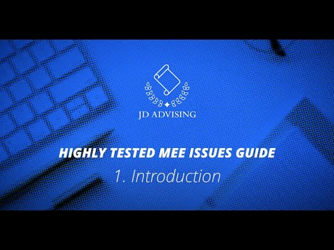 Introduction to Highly Tested MEE Guide