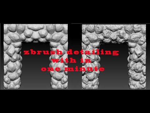 Zbrush stone sculpting