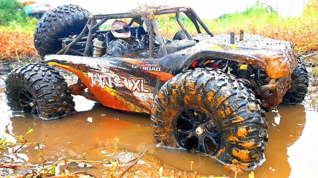 Rc Cars Mud Bashing Action Jumping On Vrx Racing Rh1045
