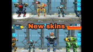 war robots test server 2.8.0 -New skins for Rogatka,Griffin,Leo,vityaz,Destrier