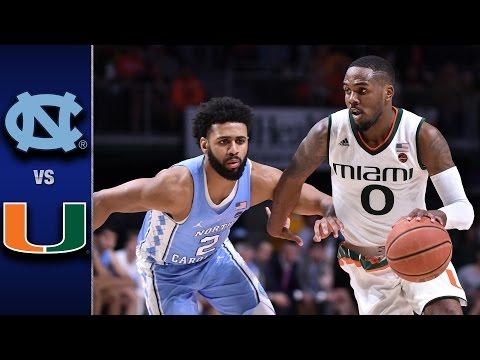 North Carolina vs. Miami Men's Basketball Highlights (2016-17)